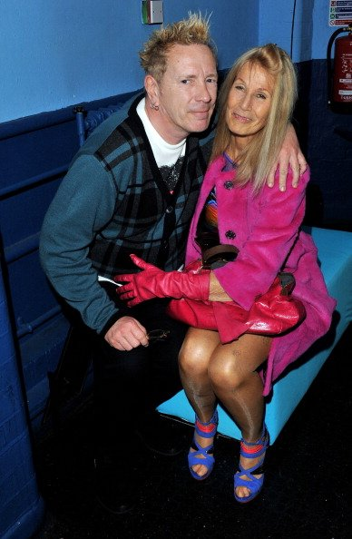 Johnny Rotten and Nora Forster at Brixton Academy on February 23, 2011 in London, England. | Photo: Getty Images
