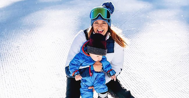 Olympic Skier Julia Mancuso Responds to Backlash after Throwing Her Toddler Son into Snow