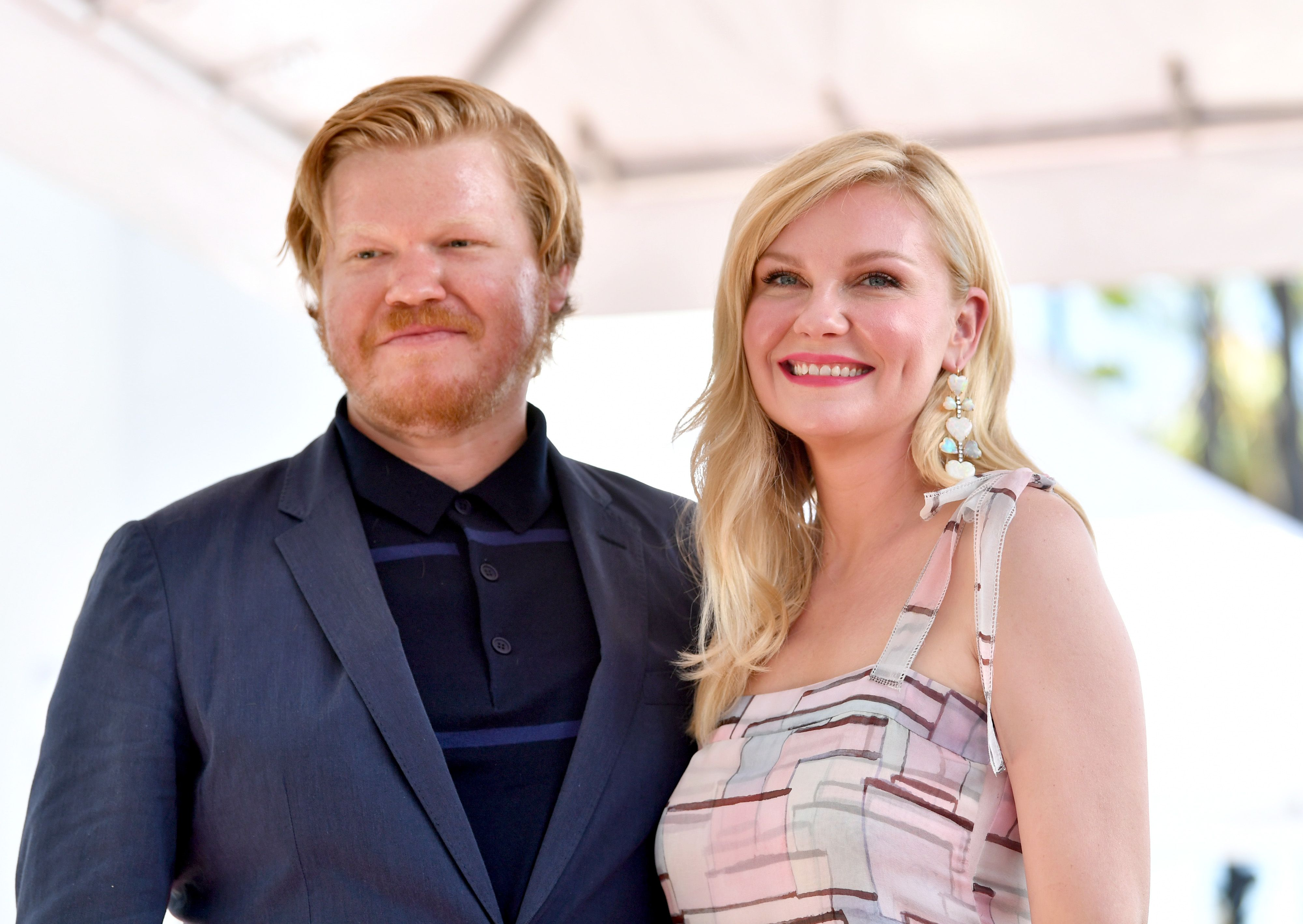 Jesse Plemons and Kirsten Dunst on the Hollywood Walk of Fame in 2019 in Hollywood, California | Source: Getty Images