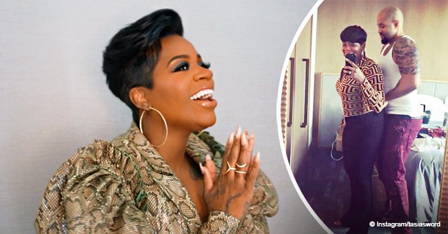 Fantasia shares hilarious video of her husband helping her get into a pair of tight jeans