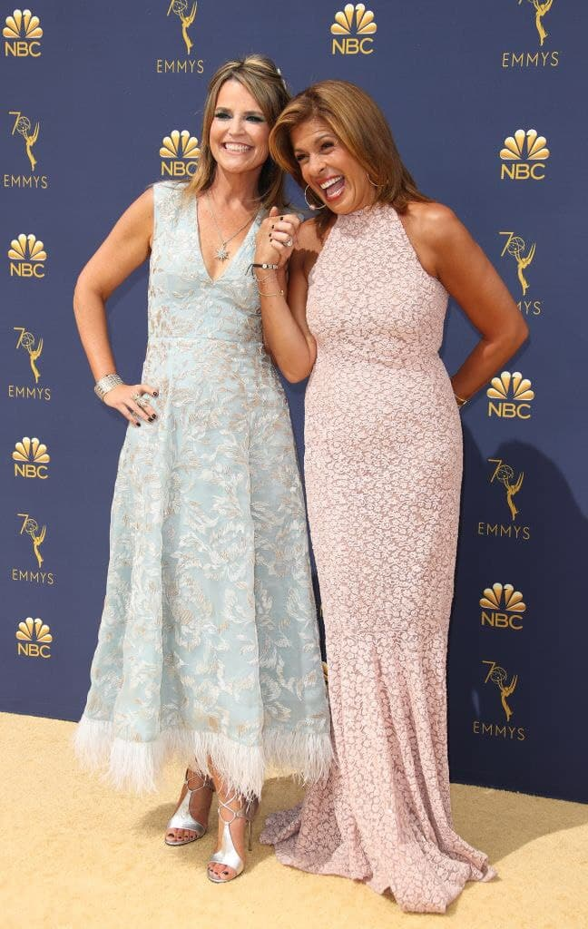 Natalie Morales and Hoda Kotb attend the 70th Emmy Awards at Microsoft Theater on September 17, 2018    Photo: Getty Images