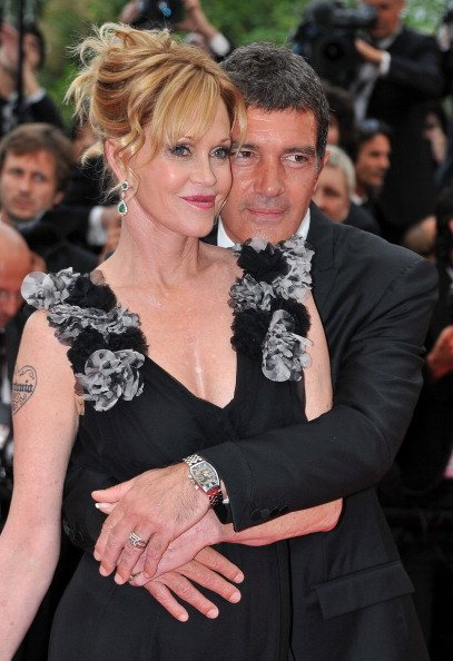 Antonio Banderas and Melanie Griffith at the Palais des Festivals during the 64th Cannes Film Festival on May 11, 2011 in Cannes, France | Photo: Getty Images