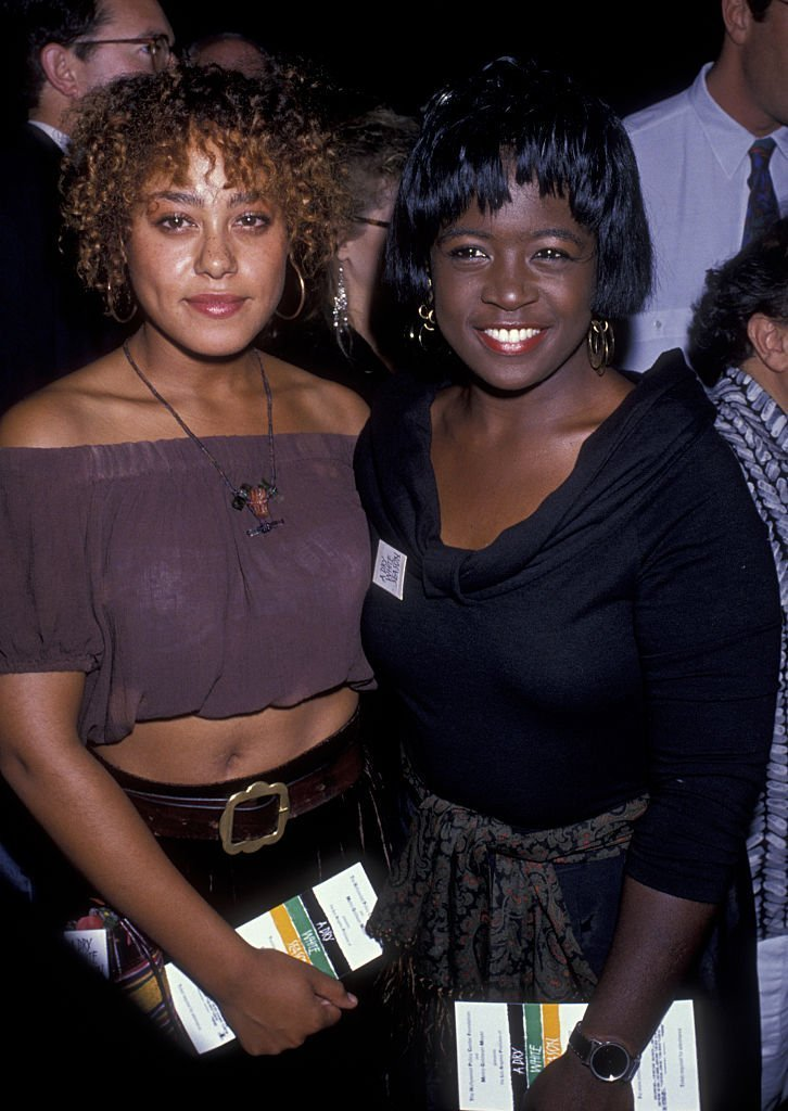 """Cree Summer and Charnelle Brown at the premiere of """"Dry White Season"""" in September 1989. 