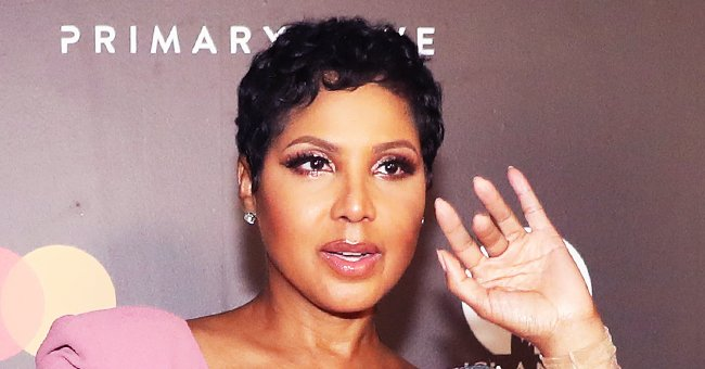 Toni Braxton Flaunted Major Leg in Pink Dress with Daring Slit at Primary Wave x Island Records Pre-Grammy Party