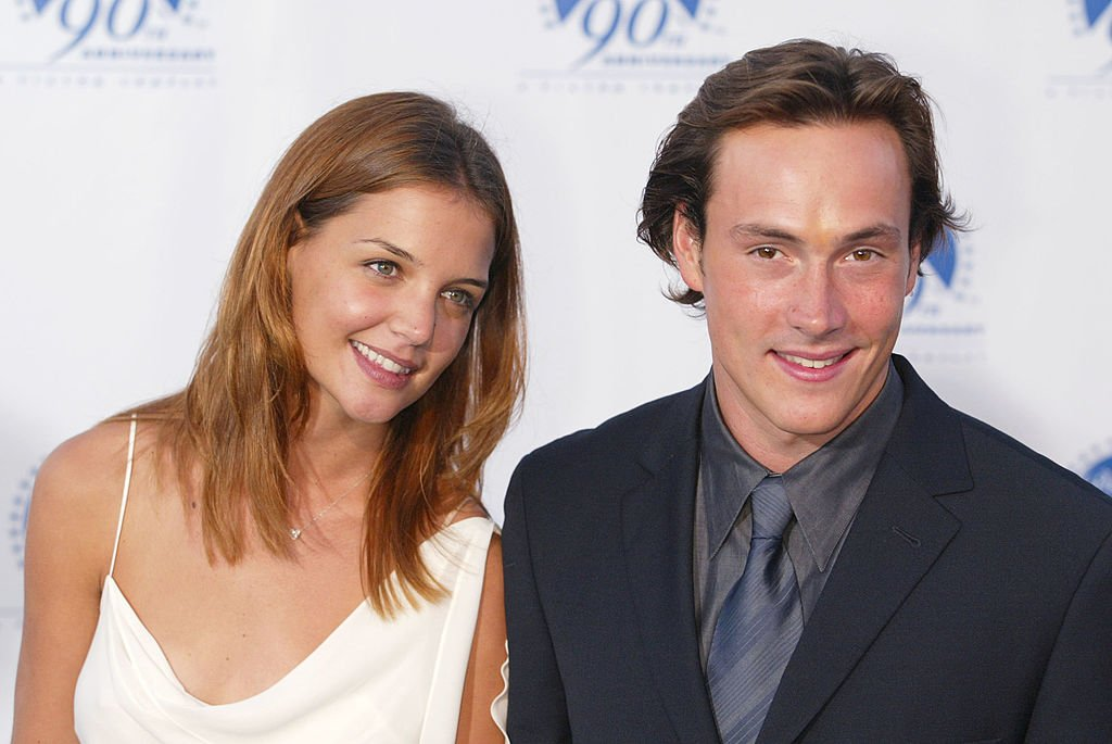 "Katie Holmes and Chris Klein at Paramount Picture's 90th Anniversary celebration ""90 Stars for 90 Years"".  July 14, 2002. 