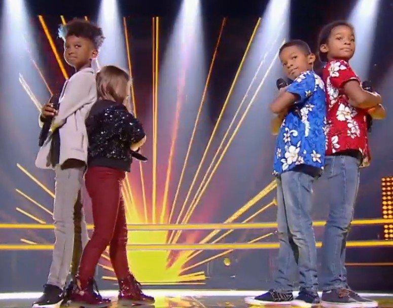 Les P'tits 4 de la rime sur scène. l Source : TF1 Replay