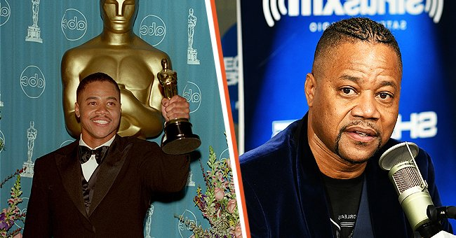On the left: Cuba Gooding Jr  at the 69th Annual Academy Award,  March 24, 1997 in Los Angeles, CA. On the right: Cuba Gooding Jr. at a SiriusXM Interview | Photo: Getty Images