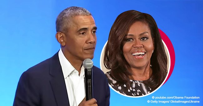 Barack Obama Makes a Touching Reference to Michelle Obama During His Speech About 'Being a Man'