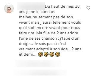 Commentaire d'une internaute sur la photo de Jean-Luc Reichmann. | Photo : Instagram / jean.luc.reichmann