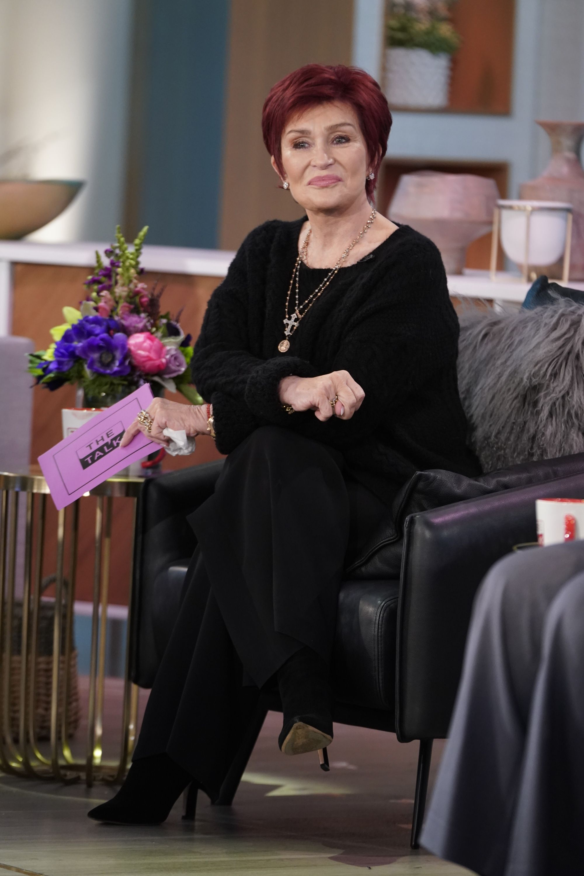 "Sharon Osbourne duing an episode of ""The Talk"" on Tuesday, November 10, 2020. 