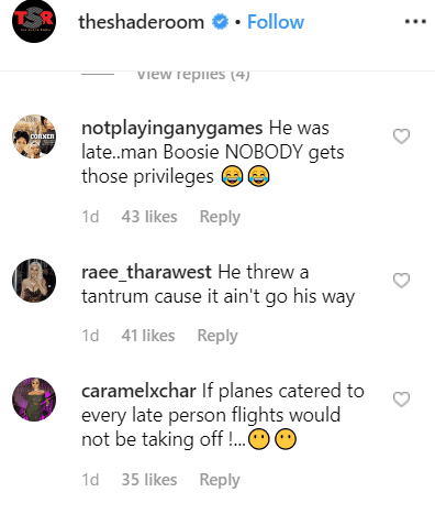 Comments criticizing Boosie Badazz. | Photo: Instagram/The Shade Room
