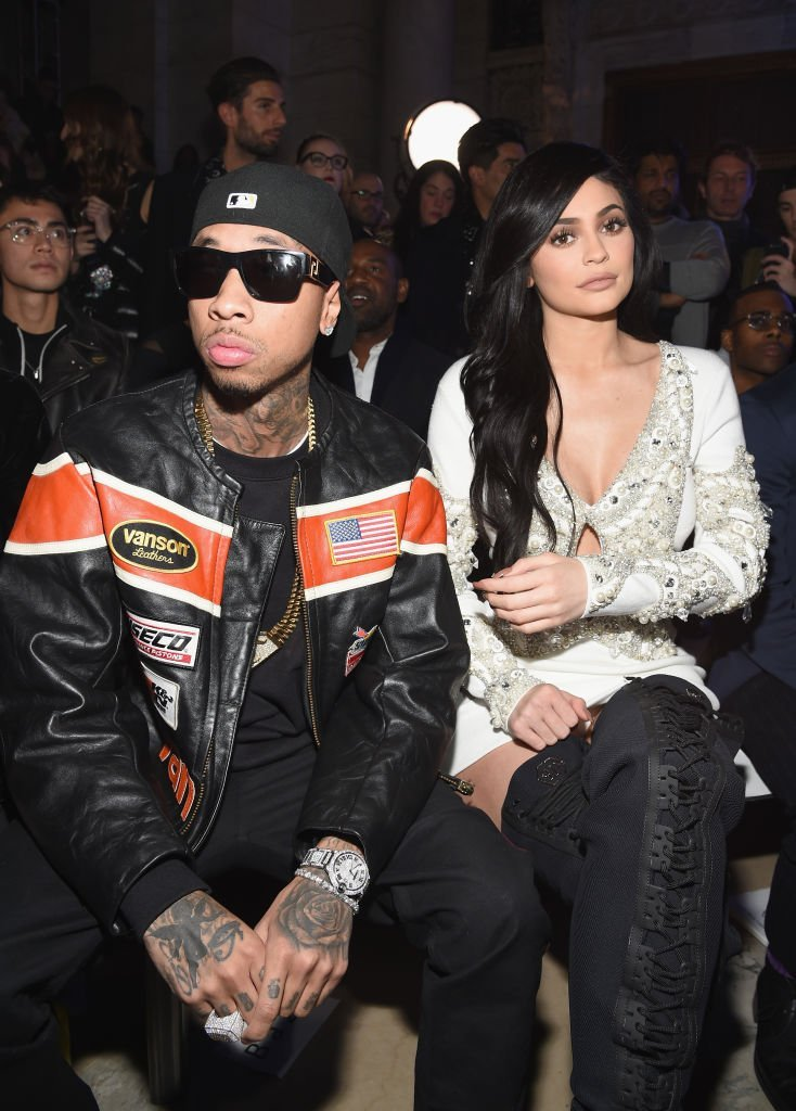 Tyga and Kylie Jenner attend the Front Row for the Philipp Plein Fall/Winter 2017/2018 Women's And Men's Fashion Show. | Source: Getty Images