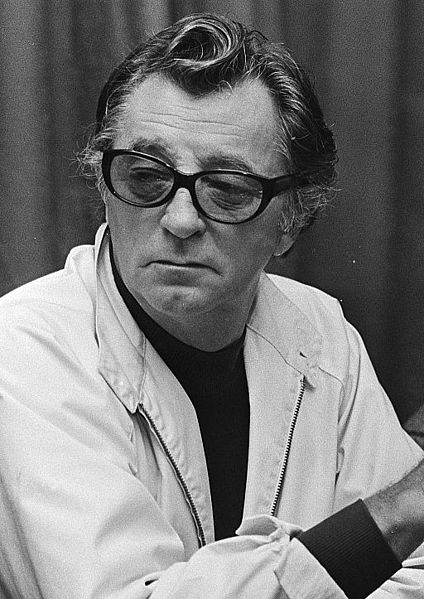 """Robert Mitchum in Amsterdam Hilton for the film """"The Amsterdam Kill,"""" October 1, 1976. 