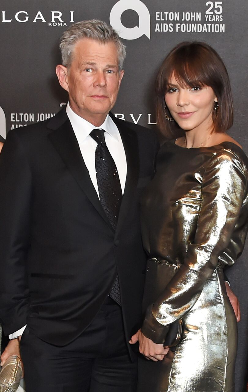 David Foster and Katharine McPhee attend the Argento Ball for the Elton John AIDS Foundation. | Source: Getty Images