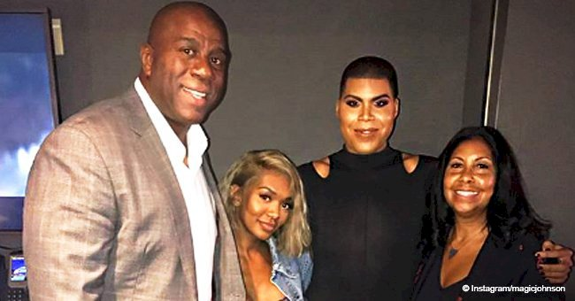 Magic Johnson gets dragged after sharing photo with his wife, daughter and gay son