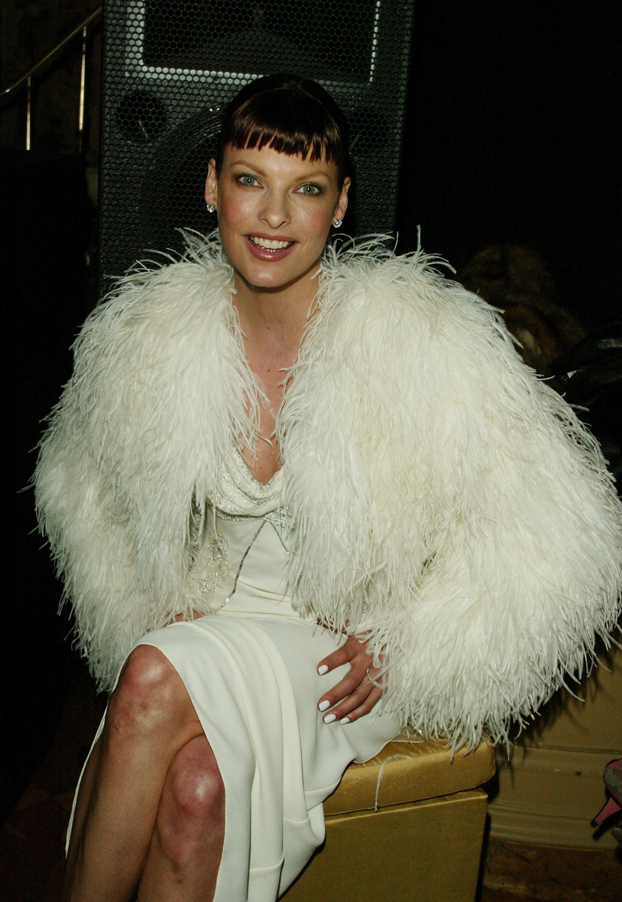"""Linda Evangelista at the Christian Dior Couture sponsored party, """"An Evening of Nouveau Glamour,"""" at The Frick Collection in New York City 