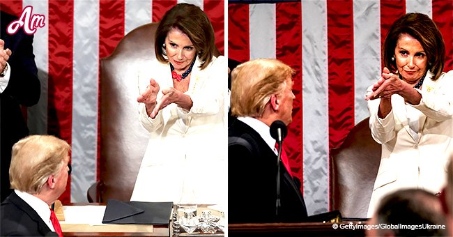 Nancy Pelosi breaks the Internet with weird clapping in Trump's ears, goes viral on social media