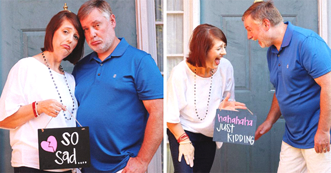 Parents Show off Their Joy in a Hilarious Photoshoot as They Celebrate Becoming Empty Nesters