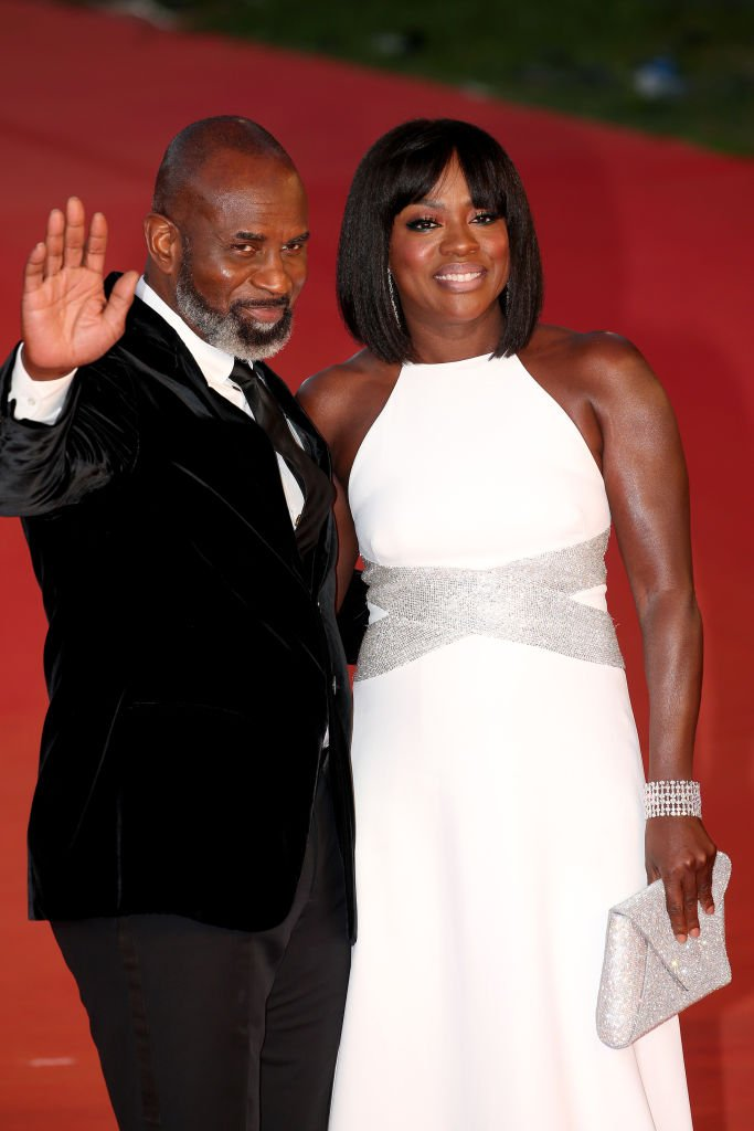 Julius Tennon and Viola Davis attend the red carpet during the 14th Rome Film Festival | Photo: Getty Images