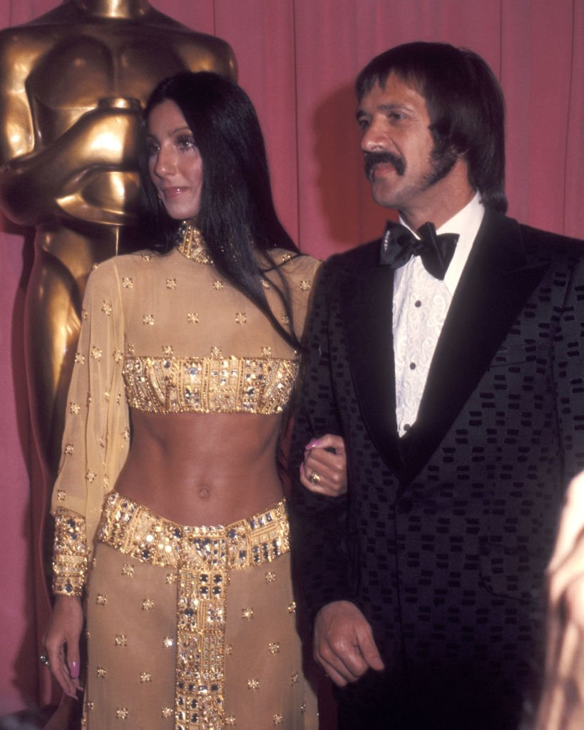 Cher and Sonny Bono at the 45th Annual Academy Awards on March 27, 1973 | Photo: Getty Images