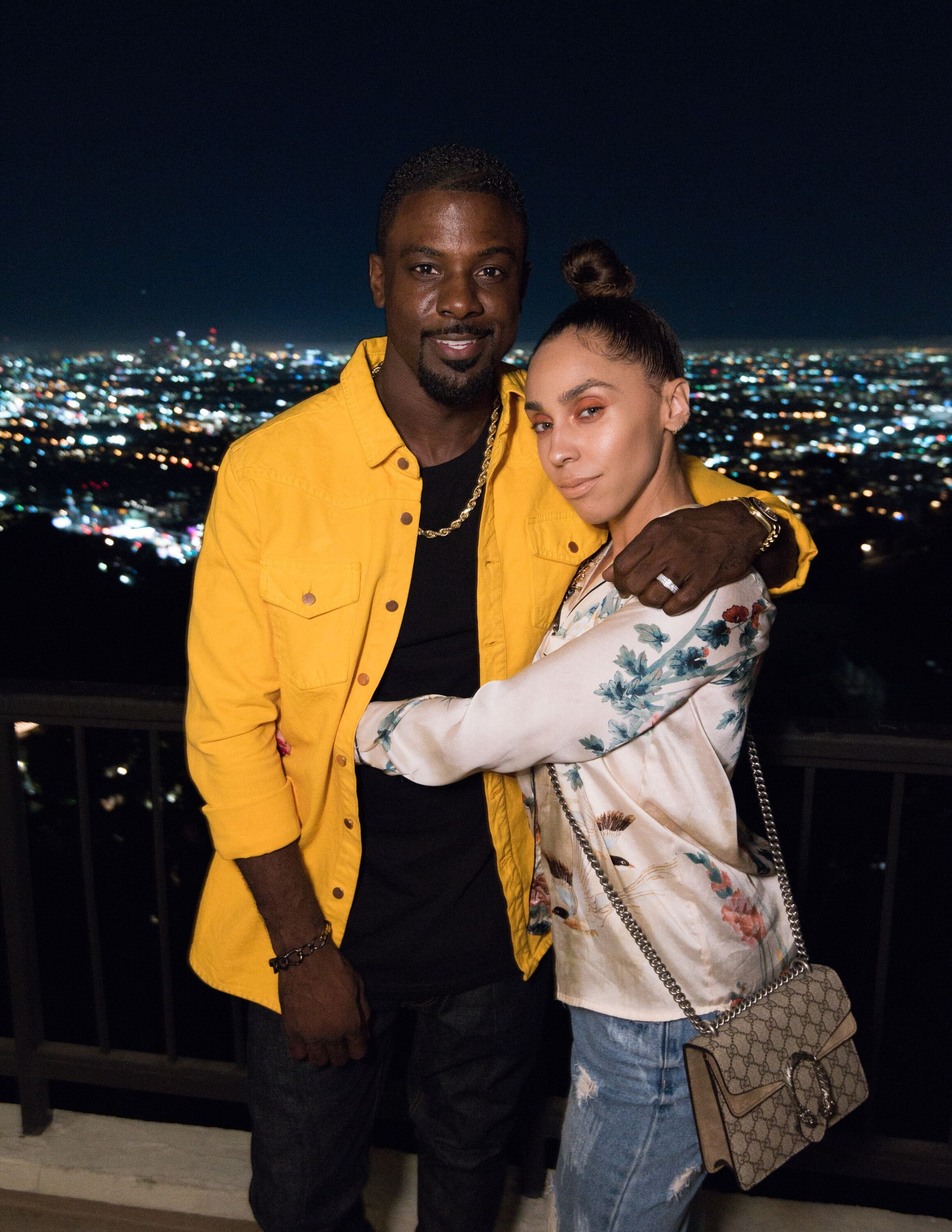 """Lance Gross and Rebecca Jefferson attend Hennessy """"Le Voyage"""" hosted by Thuy-Anh J. Nguyen on November 8, 2017 