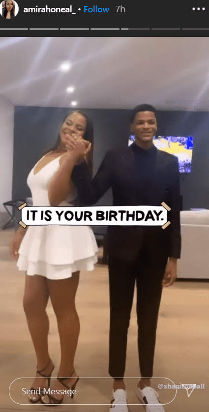 Shaqir O'Neal hold hands with from his sister, Amirah O'Neal in a birthday tribute for his 17th birthday | Source: Instagram.com/amirahoneal