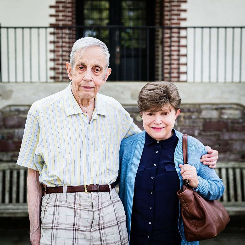 John Forbes Nash, Jr. and Alicia de Lardé Nash pose for a photo on August 9, 2014 in Princeton   Photo: Getty Images