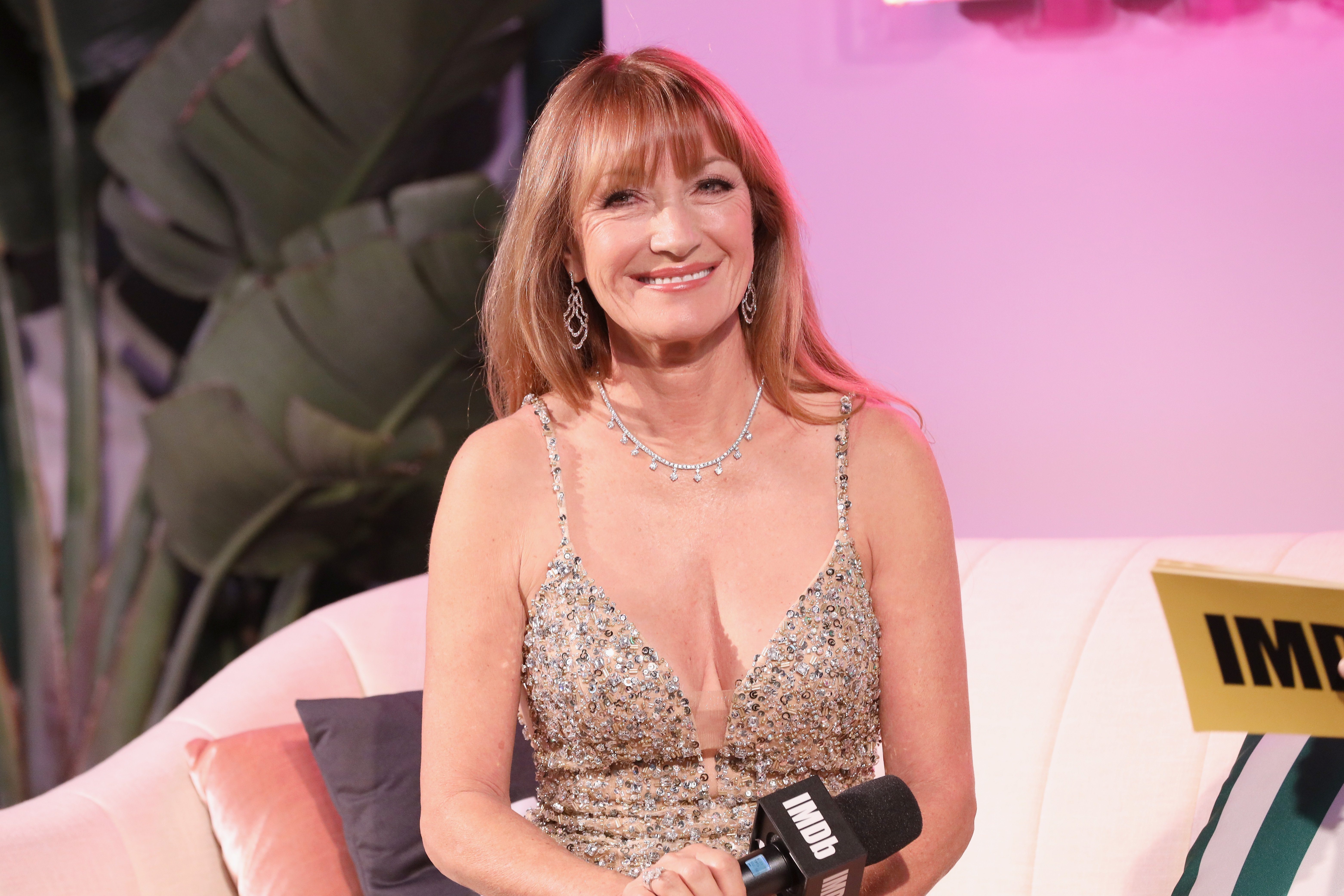 Jane Seymour at The Elton John Aids Foundation Academy Awards in Los Angeles which took place on February 24, 2019.   Photo: Getty Images.
