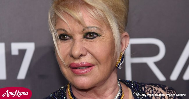 Ivana Trump appeared in a tight eye-catching dress for diet program debut at Plaza Hotel