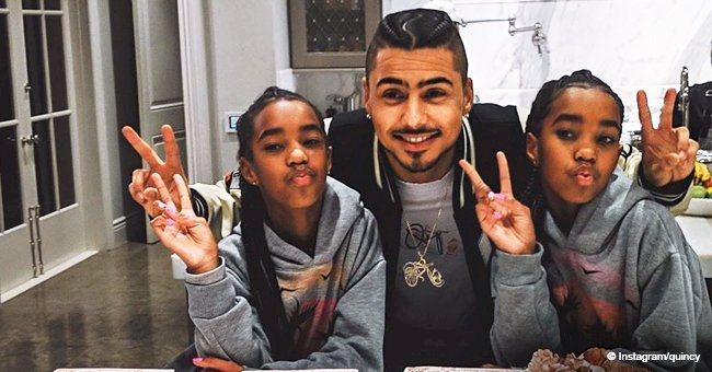 Kim Porter's son Quincy Brown shares picture with his twin sisters on their 12th birthday