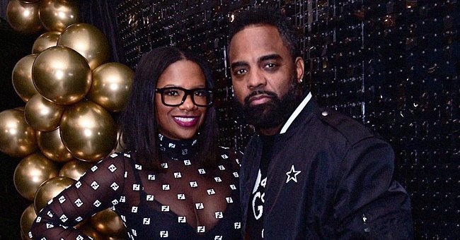 Kandi Burruss Shows Her Curves Posing with Husband Todd Tucker in Awesome Top and Tight Skirt