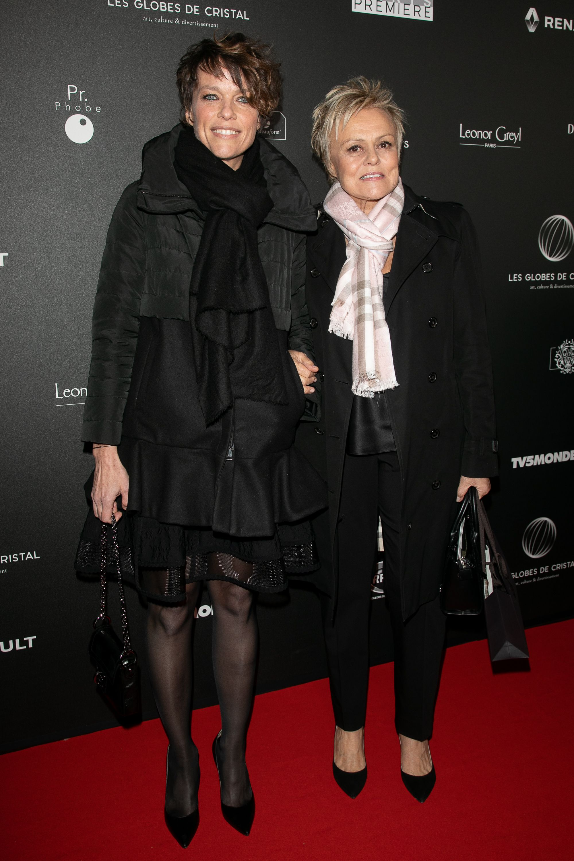 Anne Le Nen et Muriel Robin à la Salle Wagram le 04 février 2019 à Paris, France.  | Photo : Getty Images