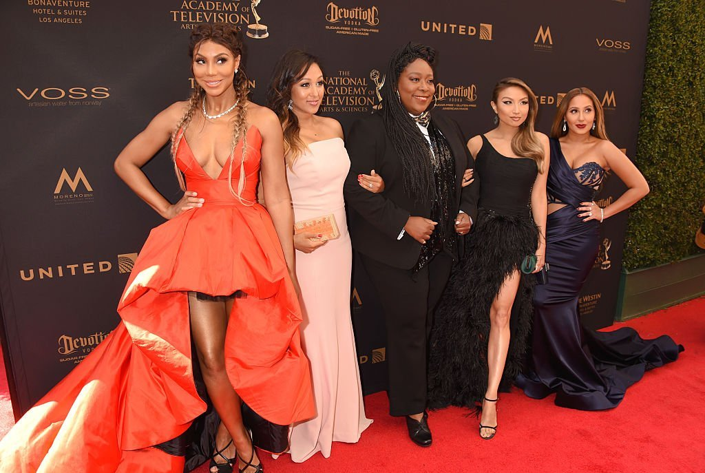 "Tamar Braxton with the ladies of ""The Real"" at the 2016 Daytime Emmy Awards. 