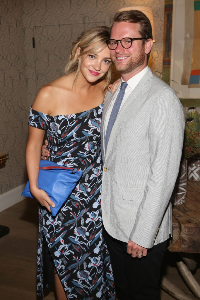"Abby Elliott and Will Kennedy attend The Cinema Society & Kargo host the after party for the Season 3 Premiere of Bravo's ""Odd Mom Out"" on July 11, 2017 in New York City. 