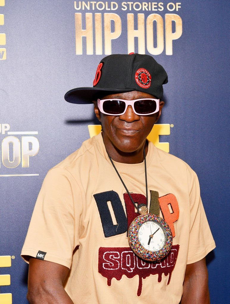 "Flavor Flav at the WEtv celebration of ""Growing Up Hip Hop New York"" and ""Untold Stories of Hip Hop"" in August 2019. 