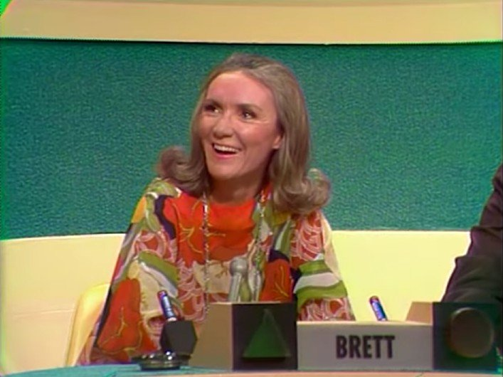 "Brett Somers on her first appearance as a panelist on ""The Match Game"" in 1973. 