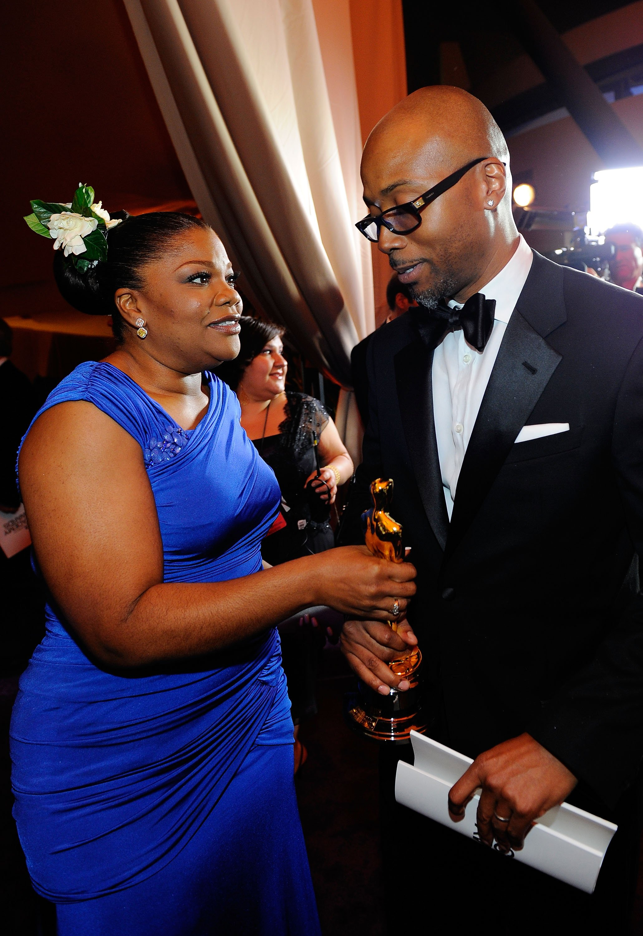 Mo'Nique and husband Sidney Hicks on March 7, 2010 in Hollywood, California | Source: Getty Images