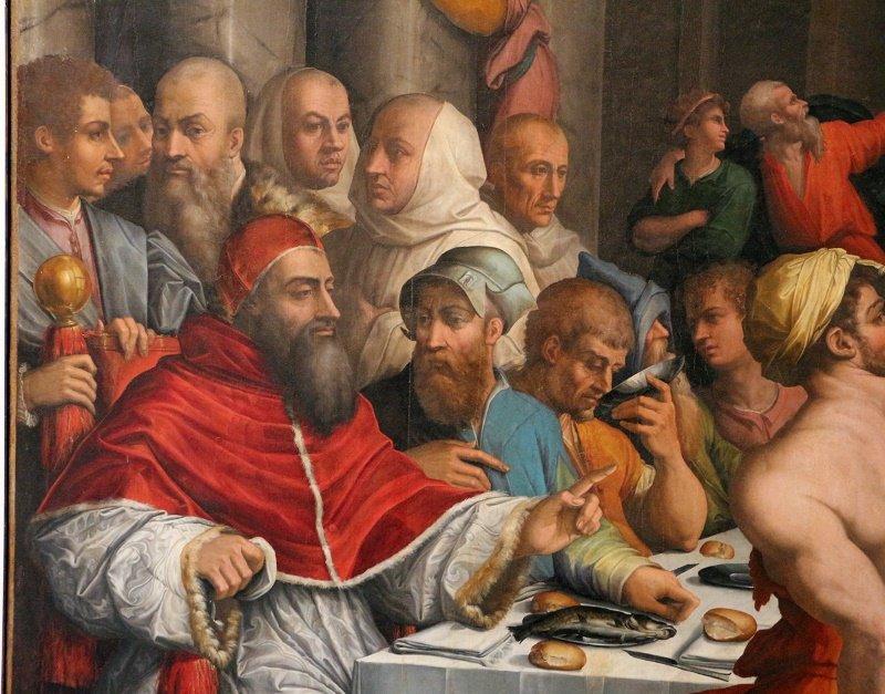 Cena en casa de San Gregorio Magno.| Fuente: Wikimedia Commons