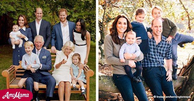 Le petit Prince Louis semble déjà avoir bien grandit sur une photo royale exclusive qui vient d'être partagée en tant que carte de Noël