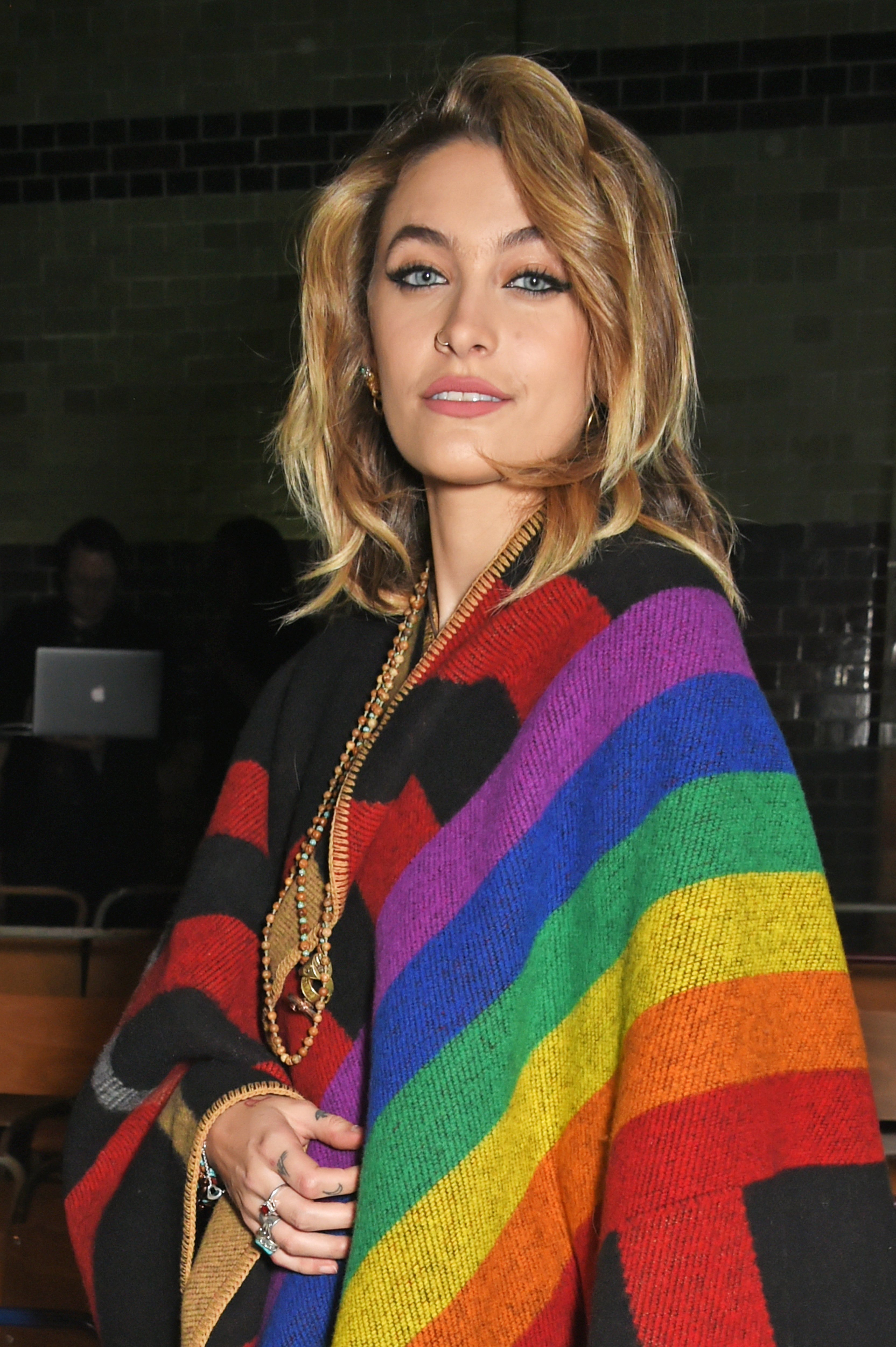 Paris Jackson wearing Burberry at the Burberry February 2018 show during London Fashion Week at Dimco Buildings on February 17, 2018, in London, England.   Source: Getty Images.