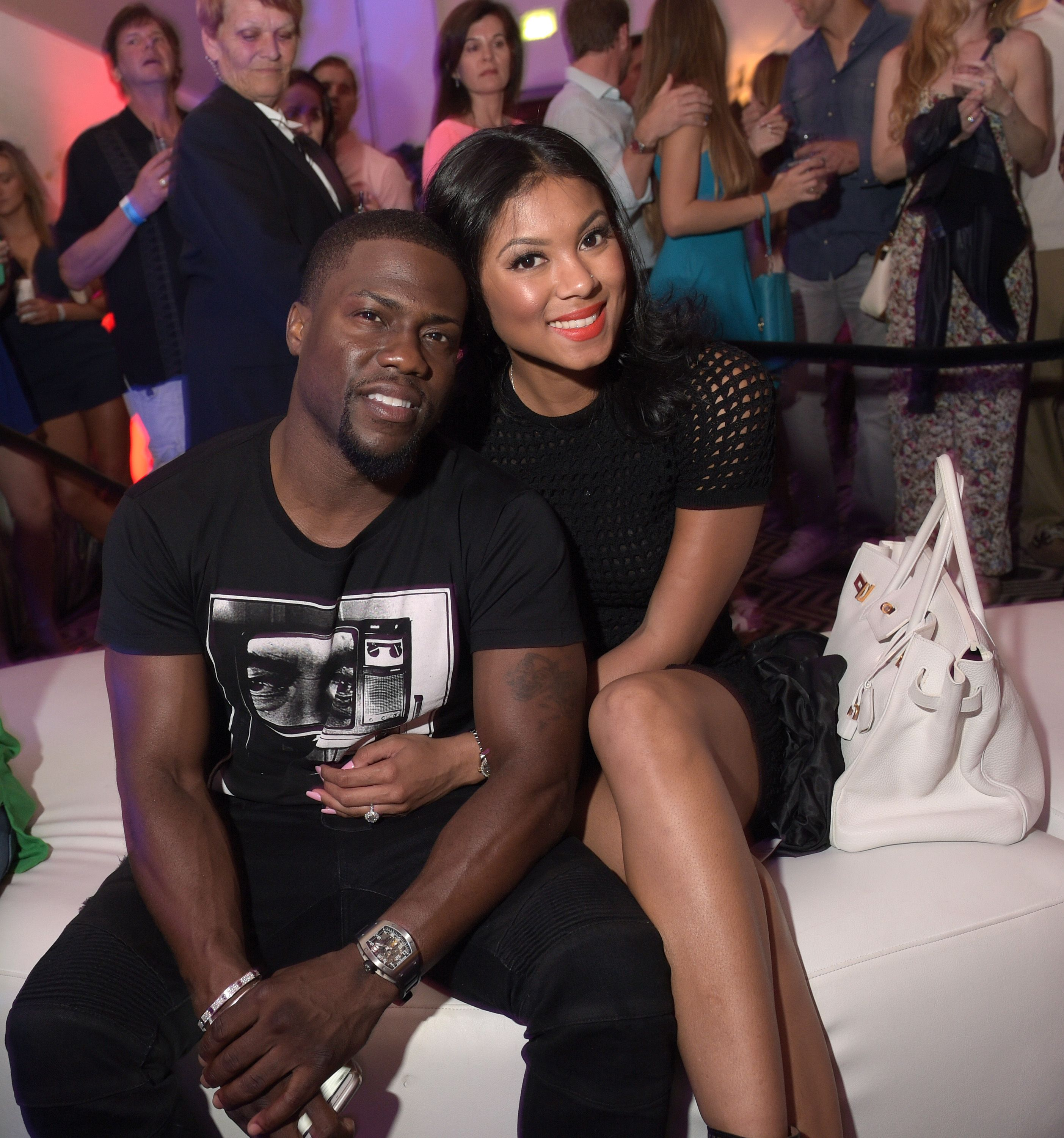 Kevin Hart and Eniko Parrish during the 11th Annual Desert Smash at La Quinta Resort and Club on March 10, 2015 | Source: Getty Images