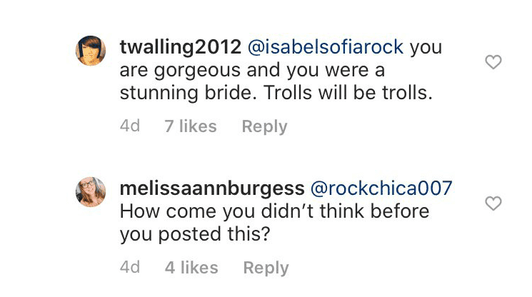 Isabel's followers supporting and defending her | Source: Instagram/@isabelsofiarock