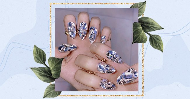 A Glimpse Into The Glass Tip Nail Trend