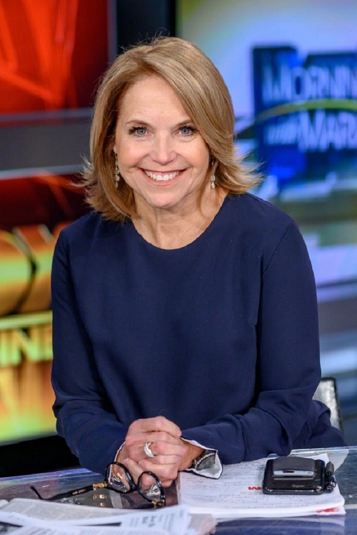 """Katie Couric visiting """"Mornings With Maria"""" at Fox Business Network Studios in New York City in March 2019.   Image: Getty Images."""