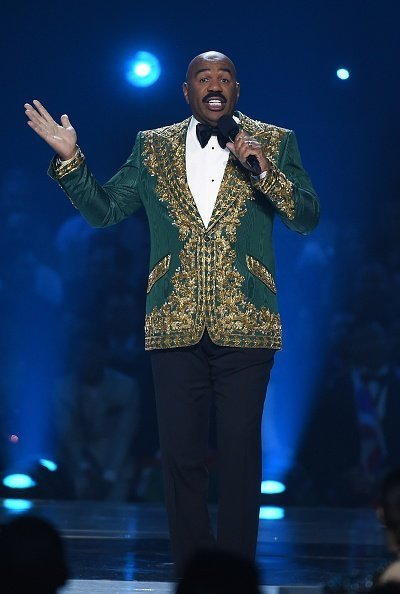 Steve Harvey at the 2019 MISS UNIVERSE competition airing LIVE onSunday, Dec. 8. | Photo: Getty Images