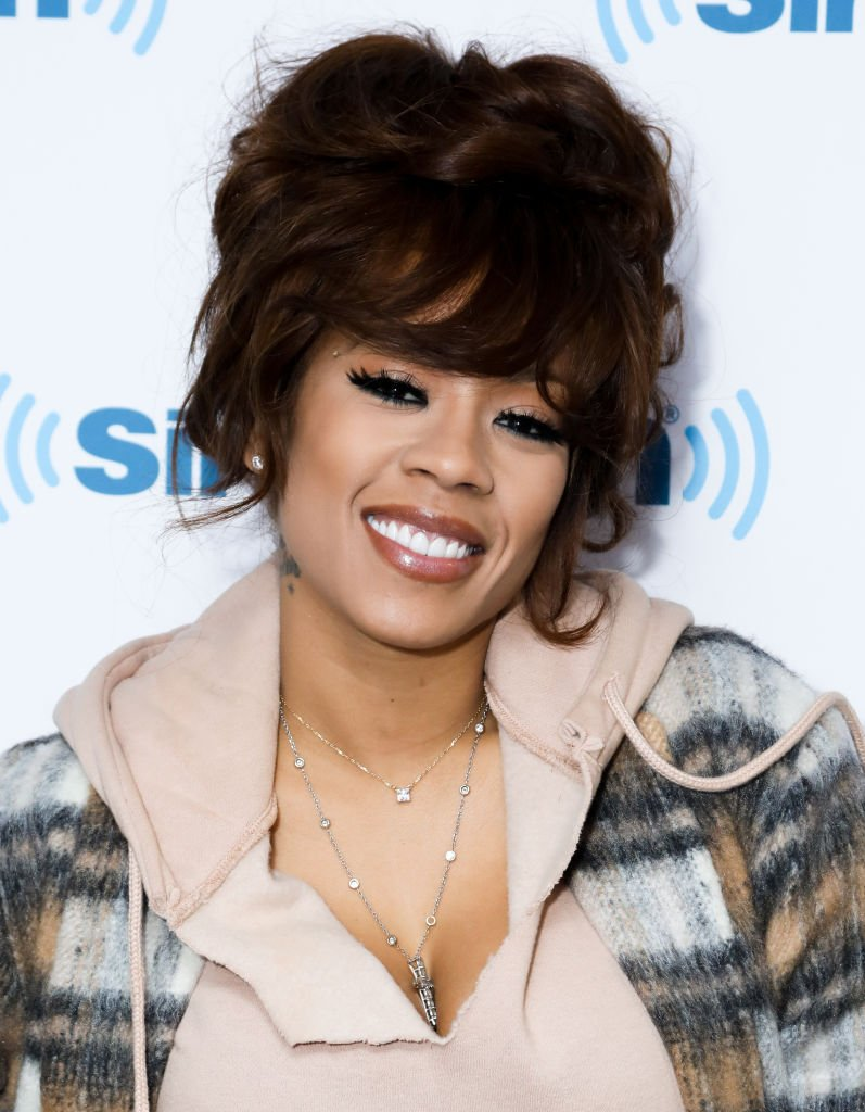 Singer-actress Keyshia Cole during her 2017 visit at the SiriusXM Studios in New York City. | Photo: Getty Images