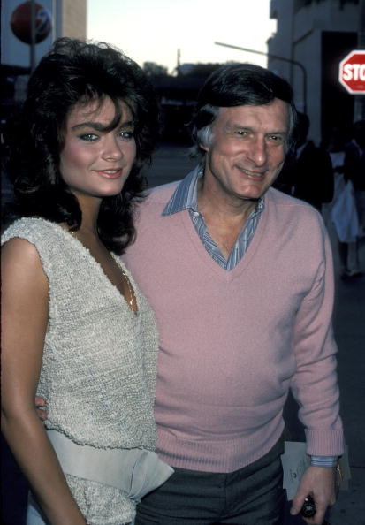 Carrie Leigh and Hugh Hefner at Samuel Goldwyn Theater in Beverly Hills, California, United States in 1984. | Photo: Getty Images