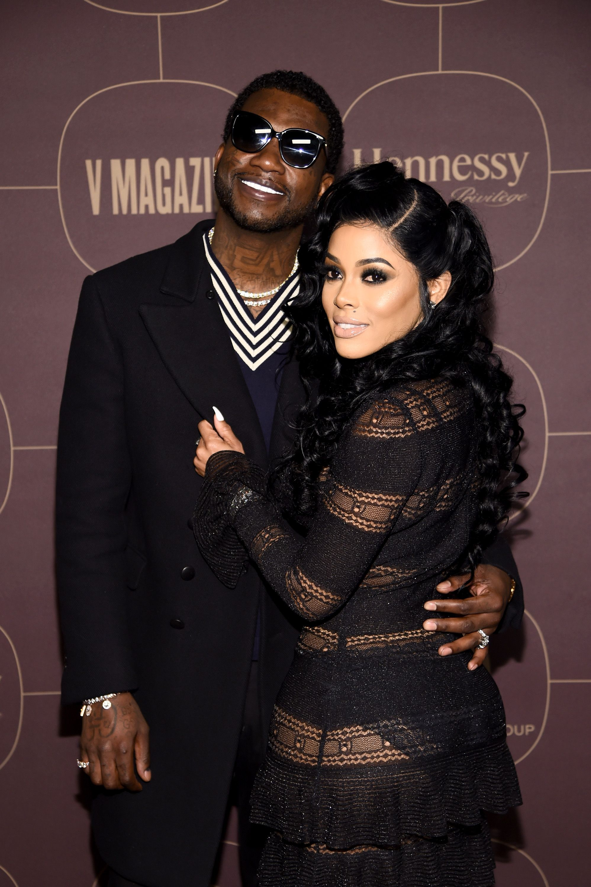 Gucci Mane and Keyshia Ka'Oir at the Warner Music Group Pre-Grammy Party on January 25, 2018 in New York.   Photo: Getty Images