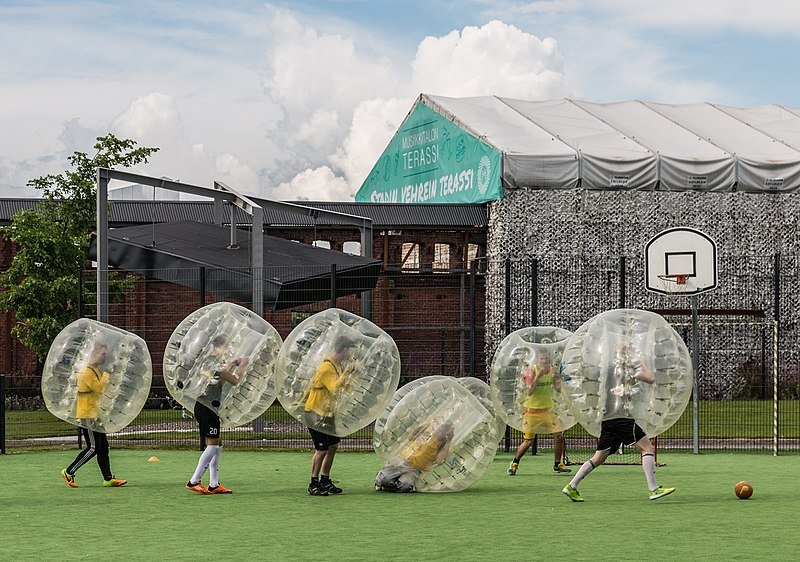 Bubble Football in Helsinki, Finland on 7 August 2016 | Photo by Ninaras CC BY 4.0, Wikimedia commons