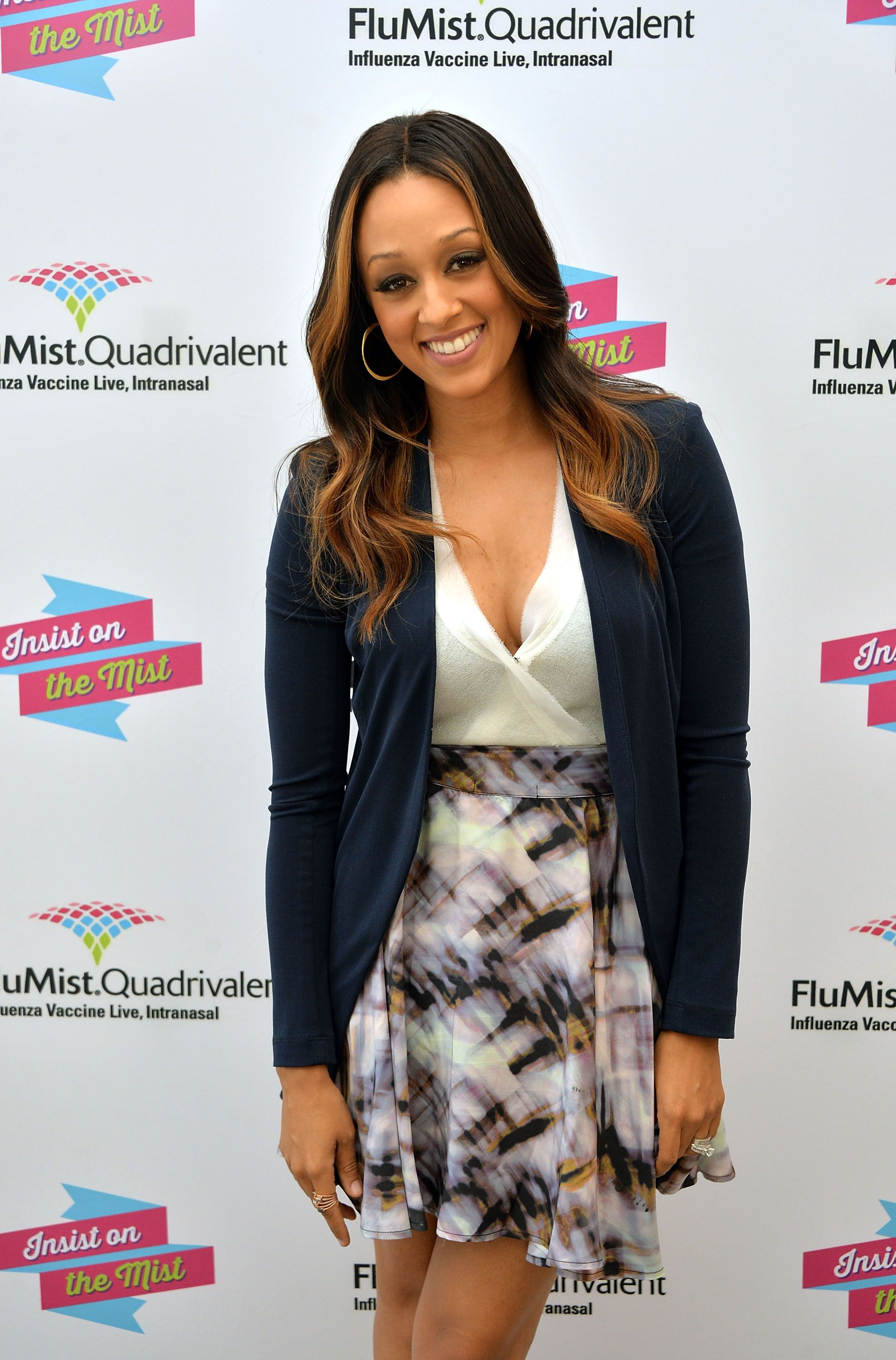 """Tia Mowry at the launch of """"I Insist!""""- a FluMist Quadrivalent on September 23, 2013   Photo: Getty Images"""